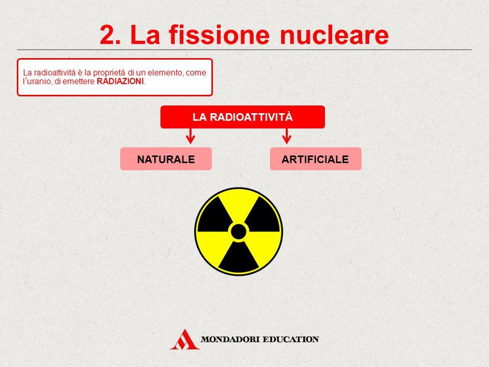 2. La fissione nucleare LA RADIOATTIVITÀ NATURALE ARTIFICIALE *