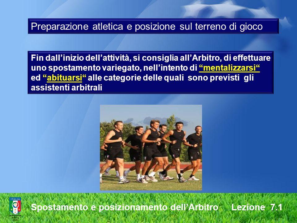 Preparazione atletica e posizione sul terreno di gioco