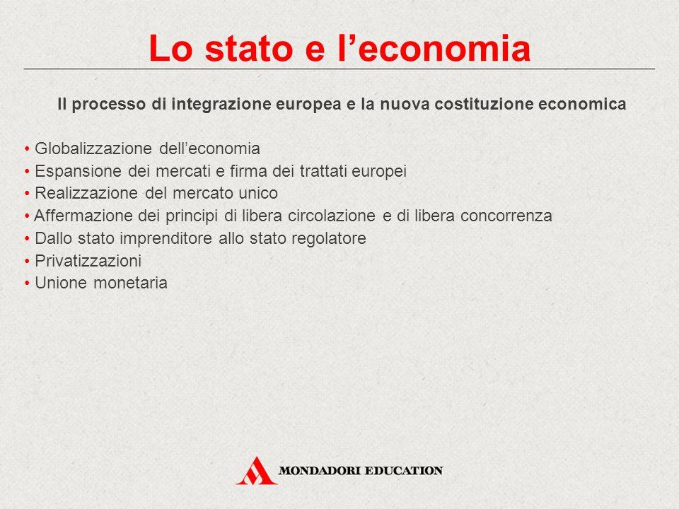 Il processo di integrazione europea e la nuova costituzione economica