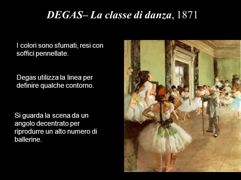 DEGAS– La classe di danza, 1871