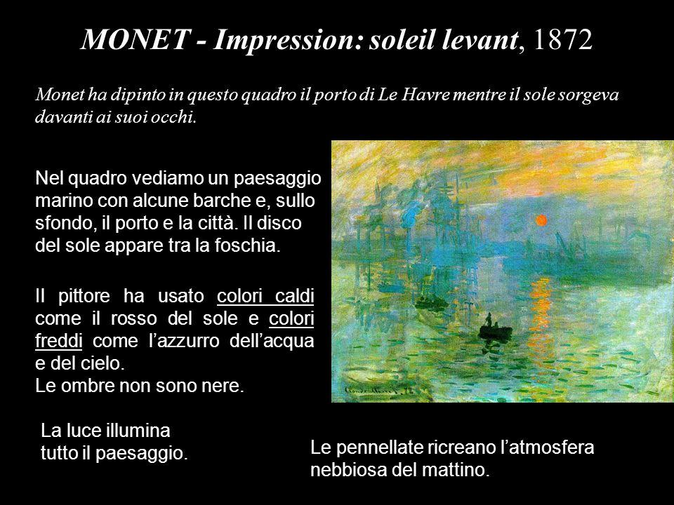 MONET - Impression: soleil levant, 1872
