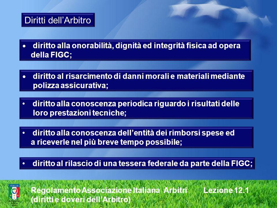 Diritti dell'Arbitro della FIGC; polizza assicurativa;