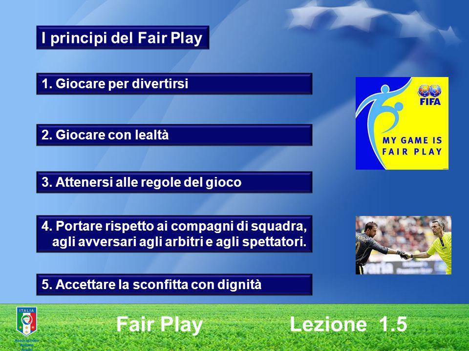 Fair Play Lezione 1.5 I principi del Fair Play