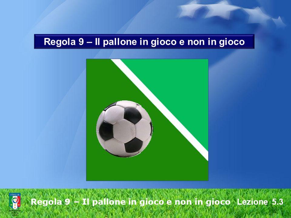 Regola 9 – Il pallone in gioco e non in gioco