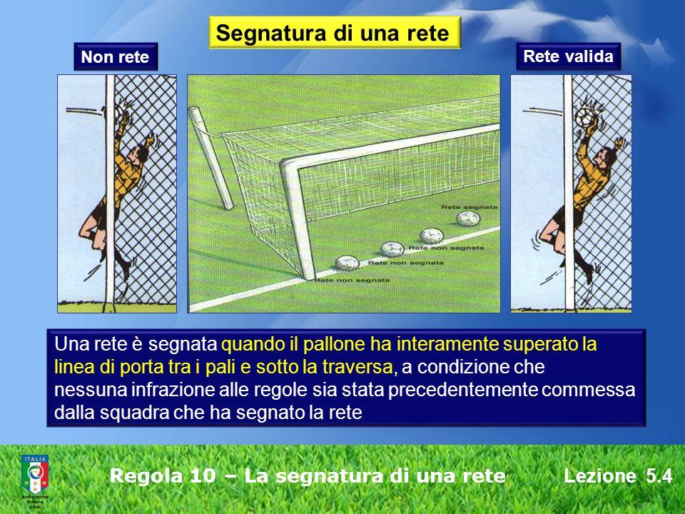 Regola 10 – La segnatura di una rete