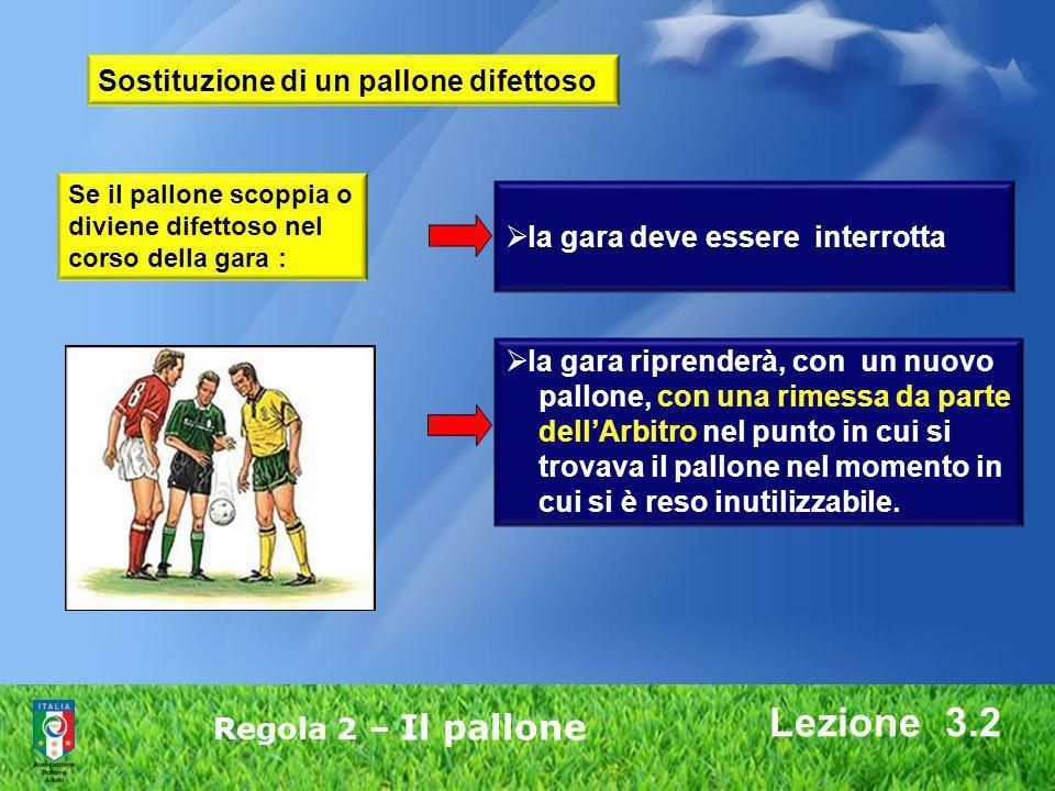 Lezione 3.2 Sostituzione di un pallone difettoso