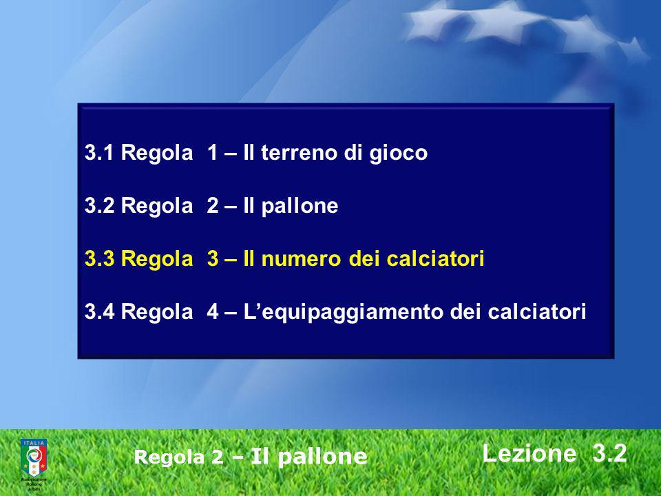 3. 1 Regola 1 – Il terreno di gioco 3. 2 Regola 2 – Il pallone 3