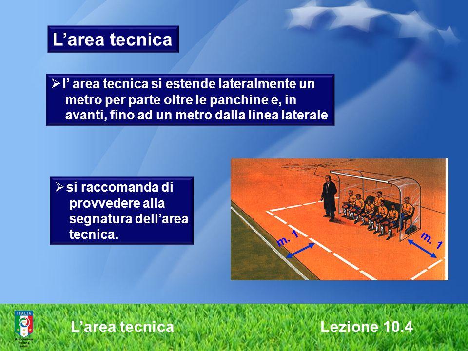 L'area tecnica L'area tecnica Lezione 10.4