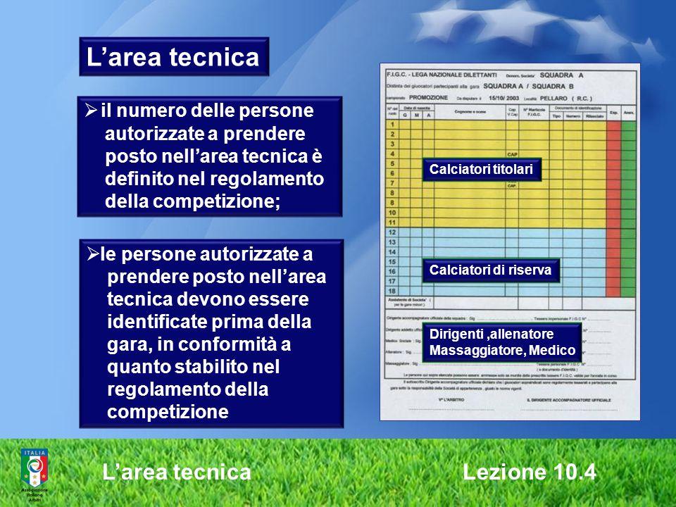 L'area tecnica L'area tecnica Lezione 10.4 il numero delle persone