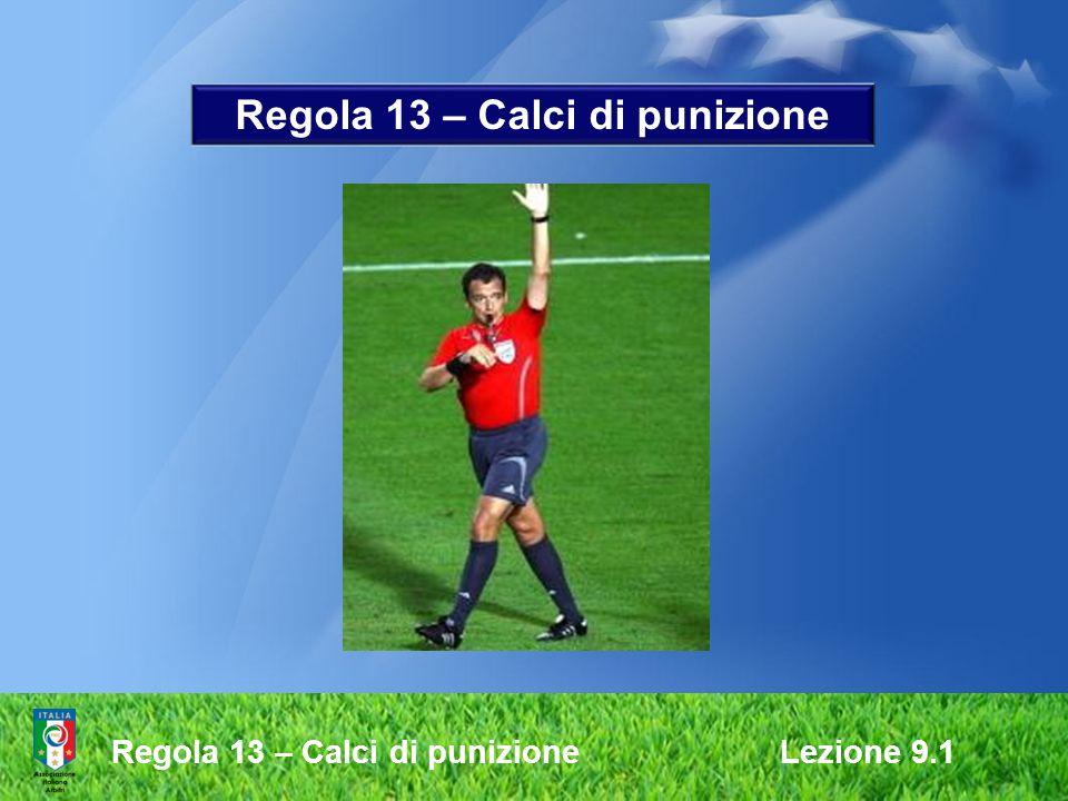 Regola 13 – Calci di punizione