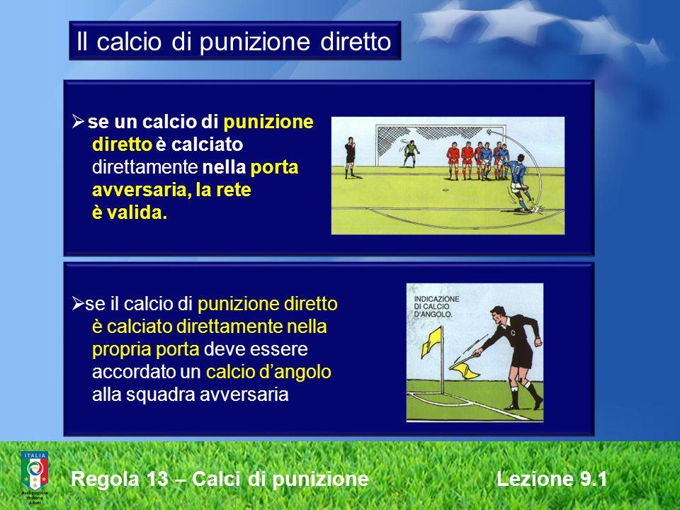 Il calcio di punizione diretto