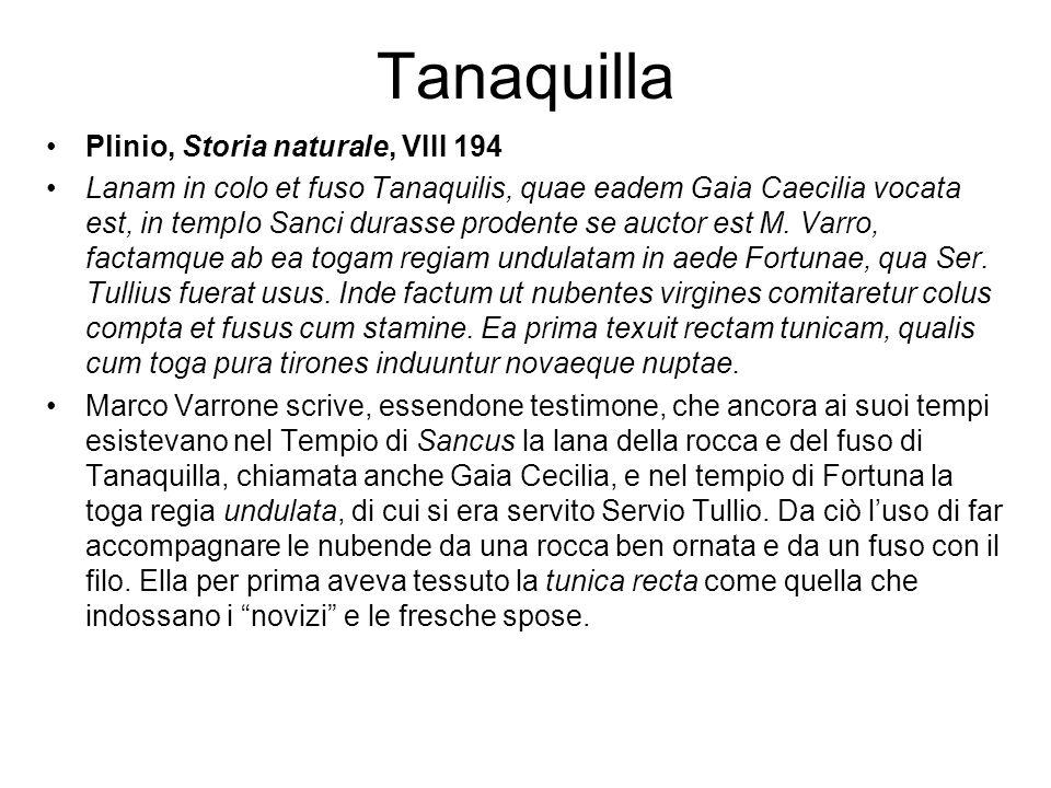 Tanaquilla Plinio, Storia naturale, VIII 194