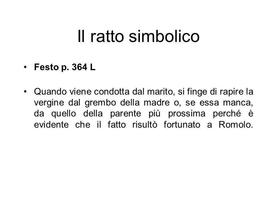 Il ratto simbolico Festo p. 364 L