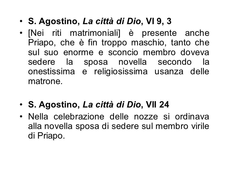 S. Agostino, La città di Dio, VI 9, 3