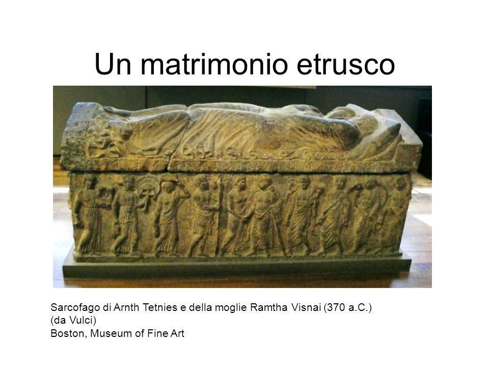 Un matrimonio etrusco Sarcofago di Arnth Tetnies e della moglie Ramtha Visnai (370 a.C.) (da Vulci)
