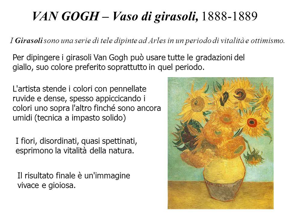 VAN GOGH – Vaso di girasoli, 1888-1889