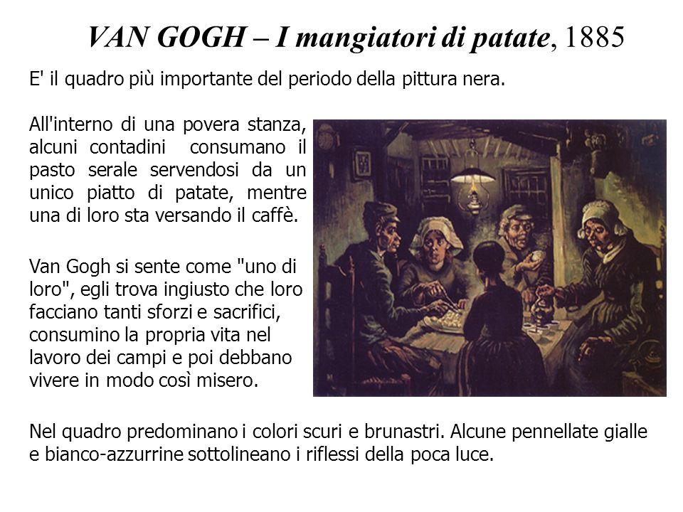 VAN GOGH – I mangiatori di patate, 1885