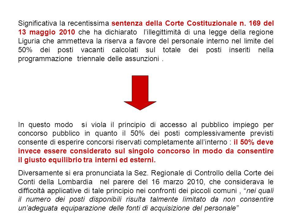 Significativa la recentissima sentenza della Corte Costituzionale n