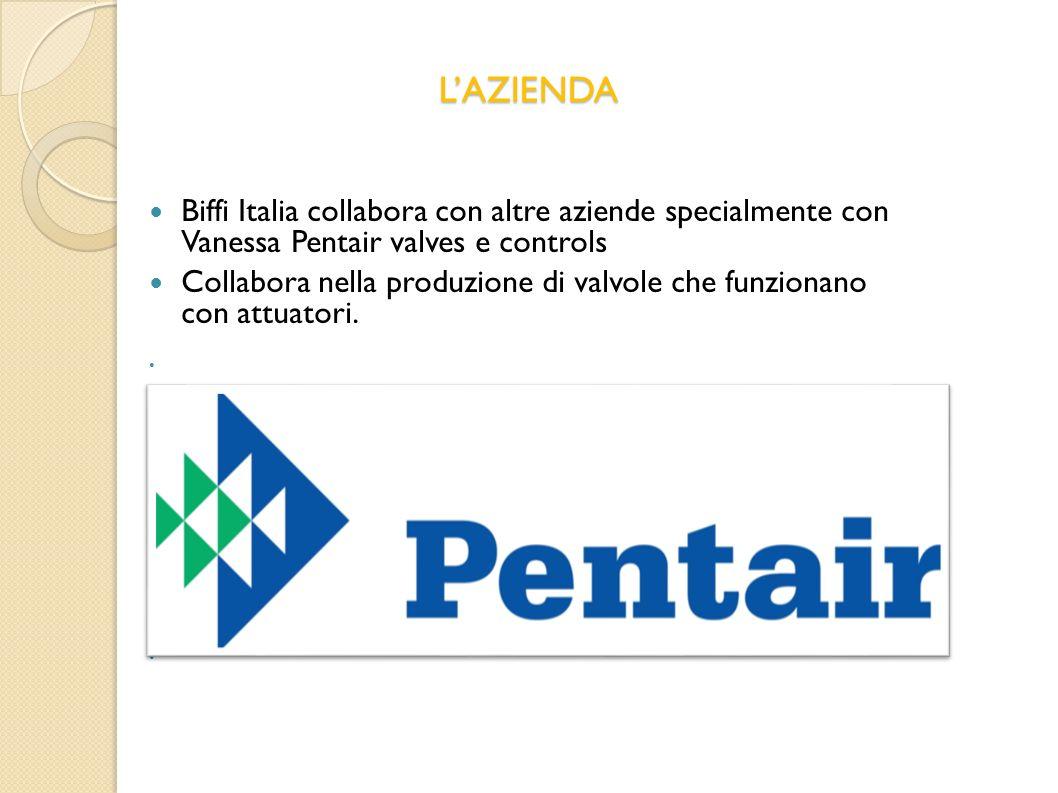 L'AZIENDA Biffi Italia collabora con altre aziende specialmente con Vanessa Pentair valves e controls.