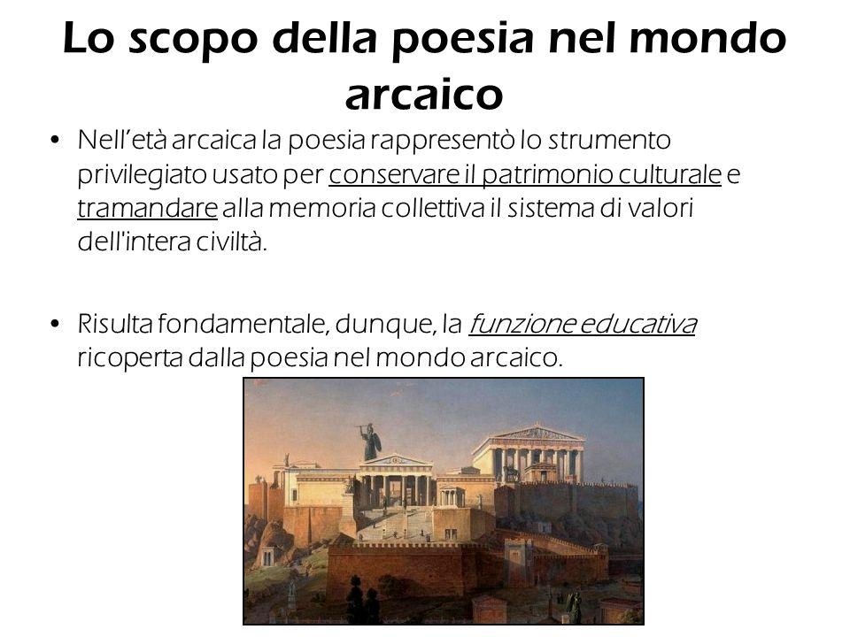 Lo scopo della poesia nel mondo arcaico