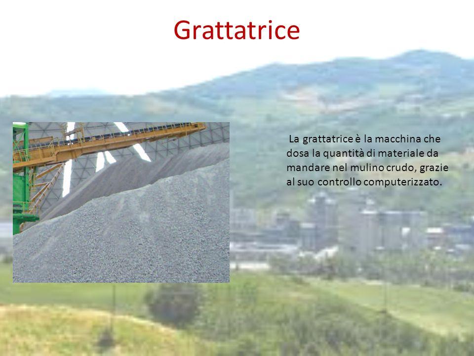GrattatriceLa grattatrice è la macchina che dosa la quantità di materiale da mandare nel mulino crudo, grazie al suo controllo computerizzato.