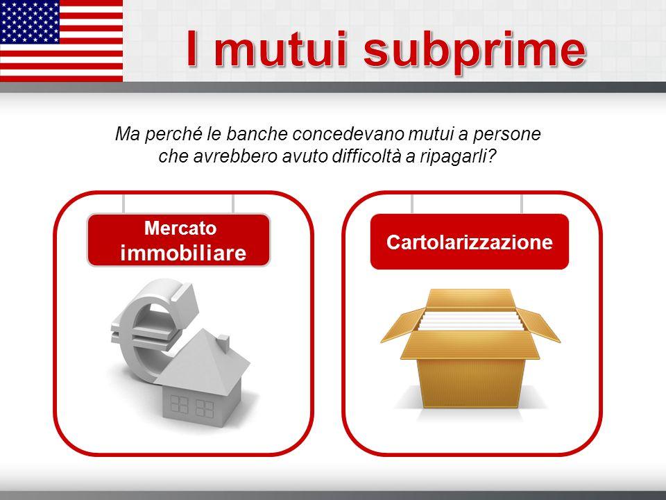 I mutui subprime Cartolarizzazione