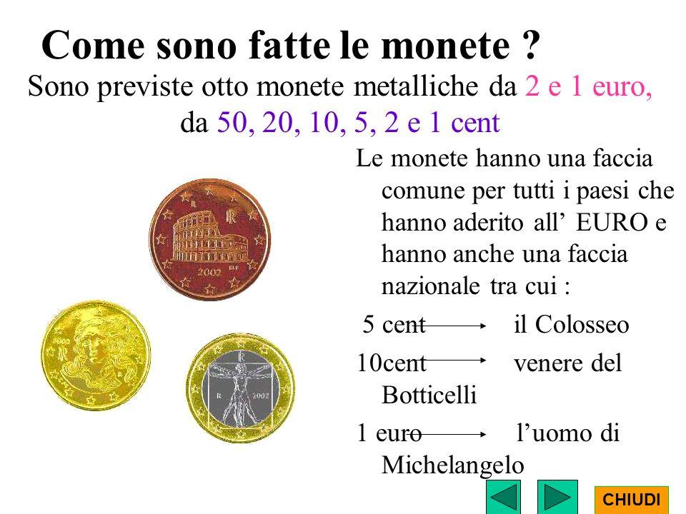 Come sono fatte le monete