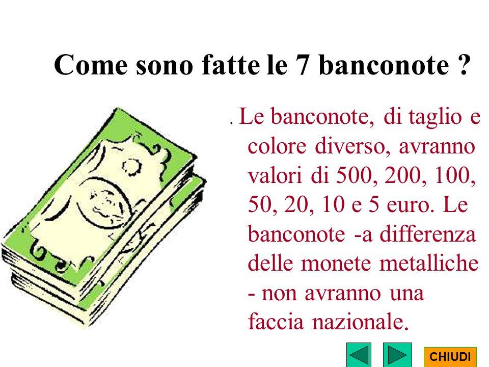 Come sono fatte le 7 banconote