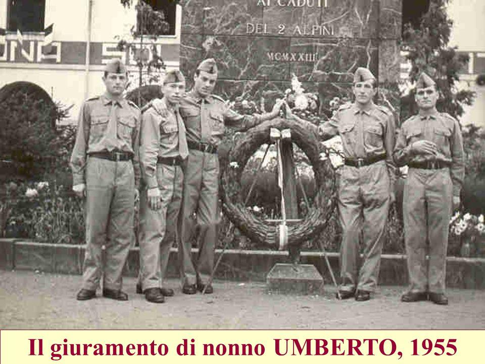 Il giuramento di nonno UMBERTO, 1955