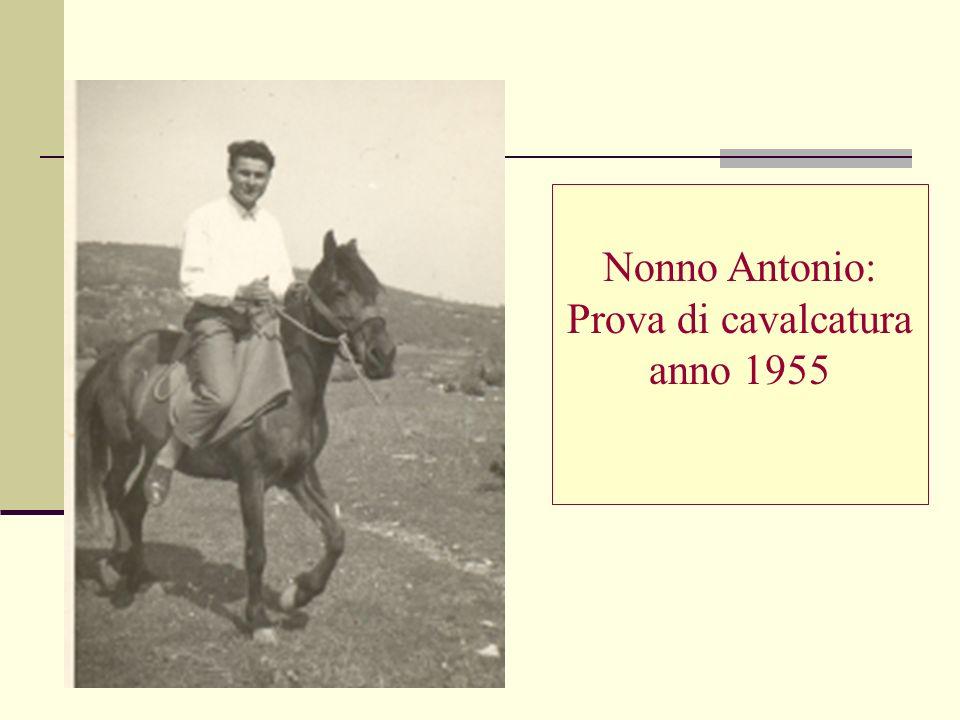 Prova di cavalcatura anno 1955
