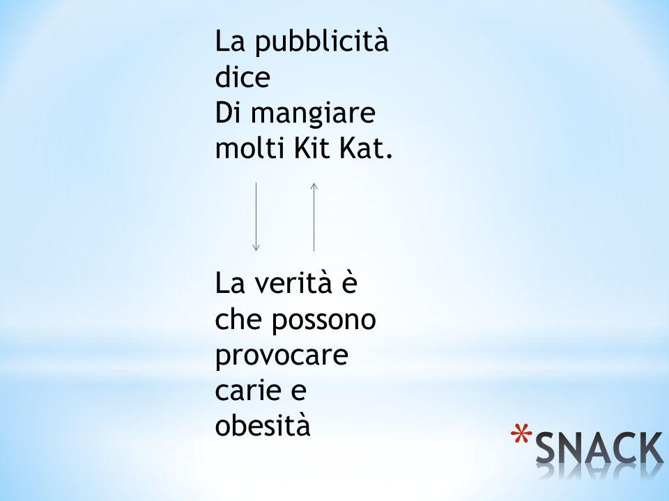 SNACK La pubblicità dice Di mangiare molti Kit Kat.