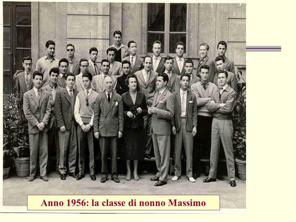 Anno 1956: la classe di nonno Massimo