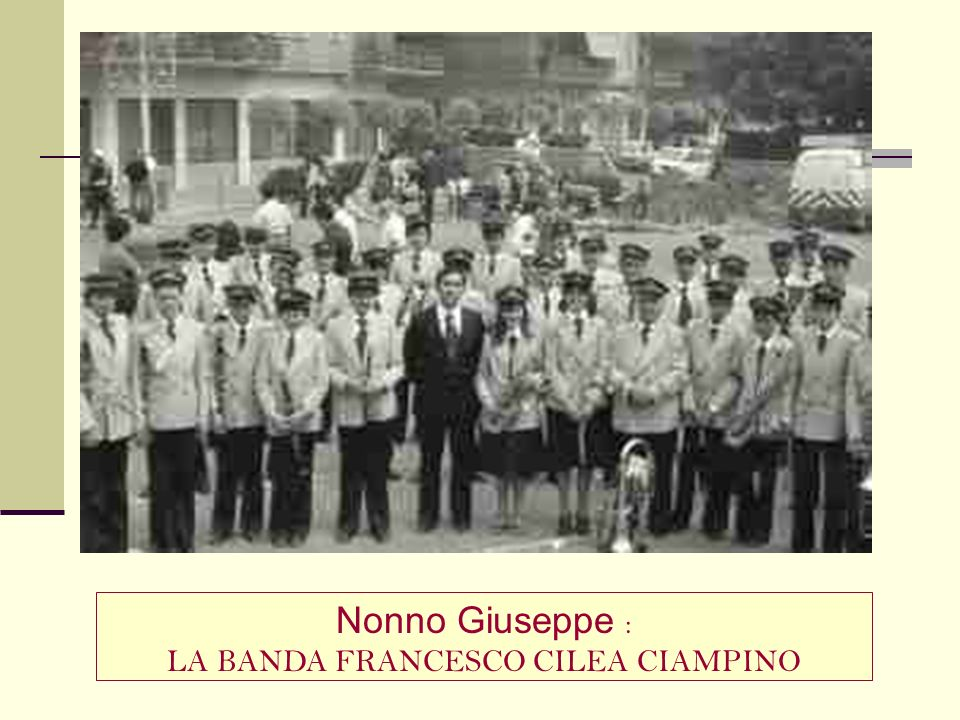 LA BANDA FRANCESCO CILEA CIAMPINO