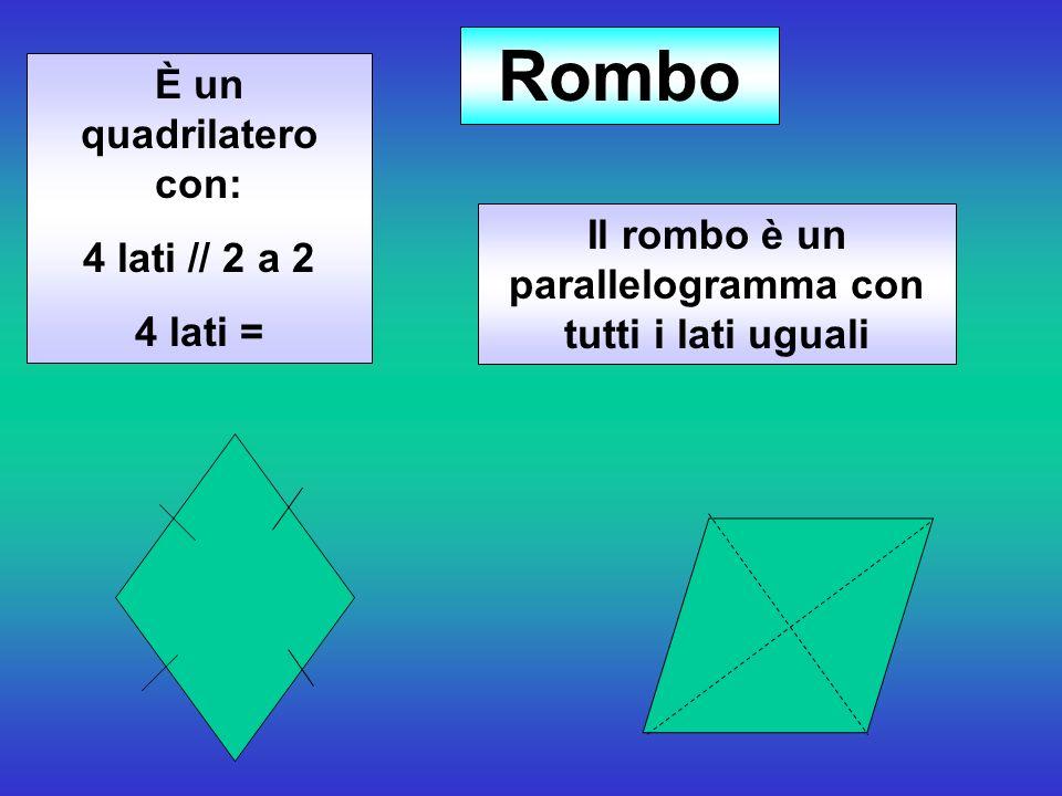 Il rombo è un parallelogramma con tutti i lati uguali