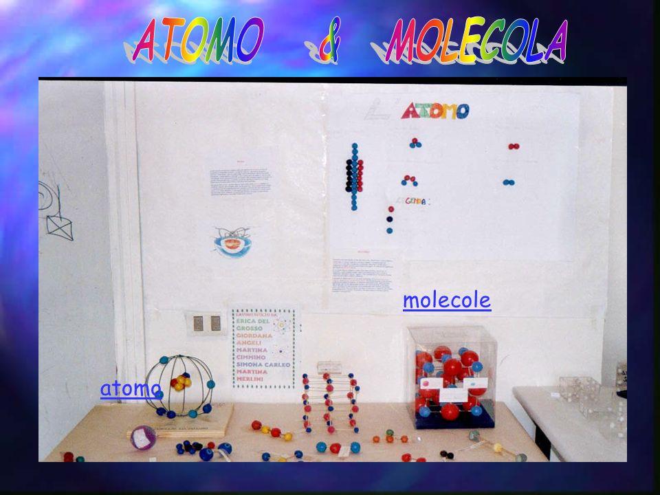 ATOMO & MOLECOLA molecole atomo