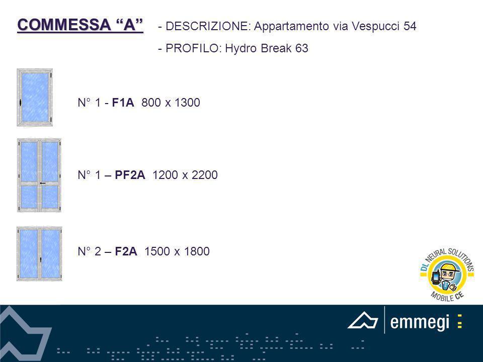 COMMESSA A - DESCRIZIONE: Appartamento via Vespucci 54