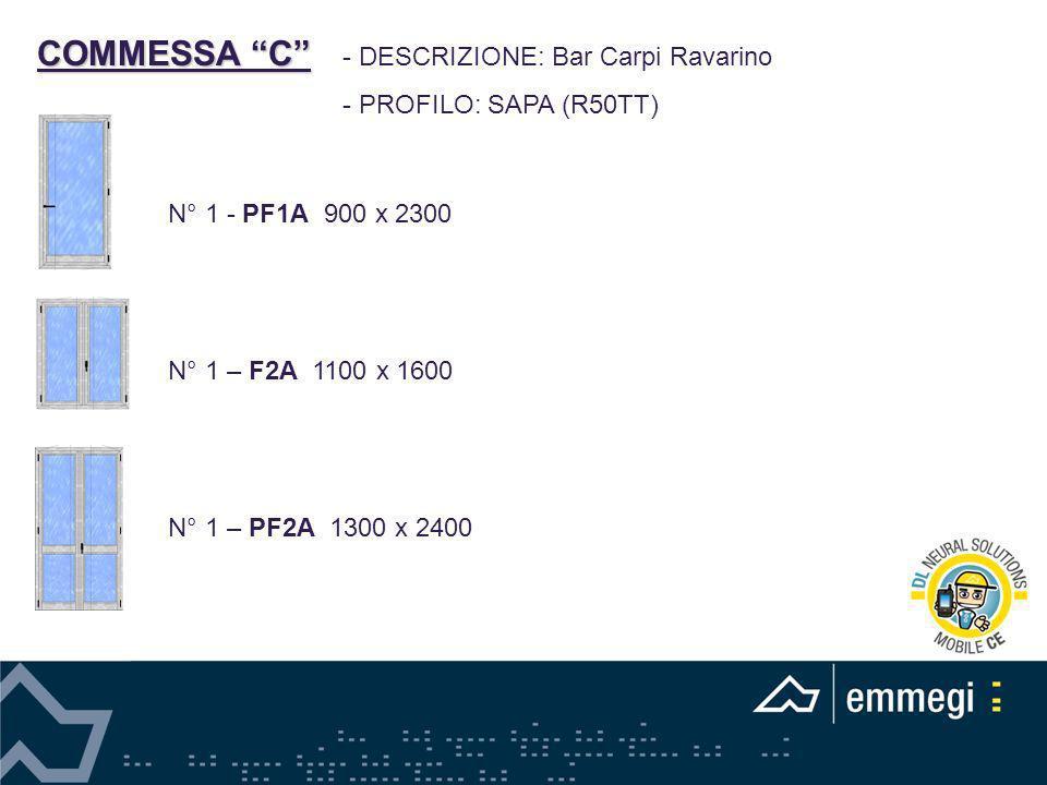 COMMESSA C - DESCRIZIONE: Bar Carpi Ravarino - PROFILO: SAPA (R50TT)