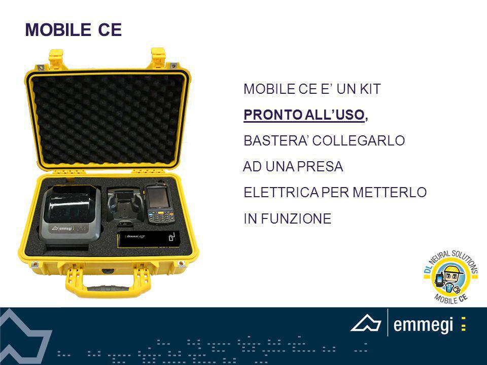 MOBILE CE MOBILE CE E' UN KIT PRONTO ALL'USO, BASTERA' COLLEGARLO
