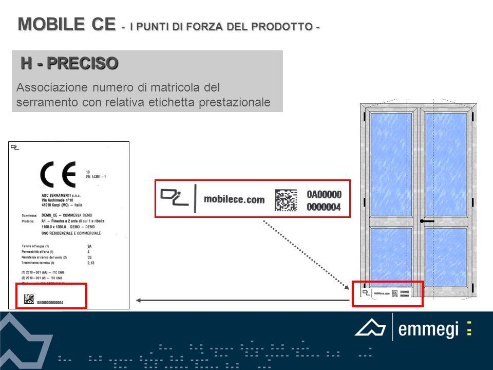 MOBILE CE - I PUNTI DI FORZA DEL PRODOTTO -