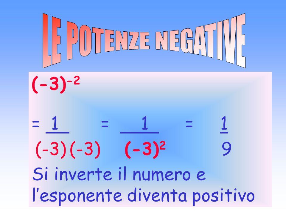 Si inverte il numero e l'esponente diventa positivo