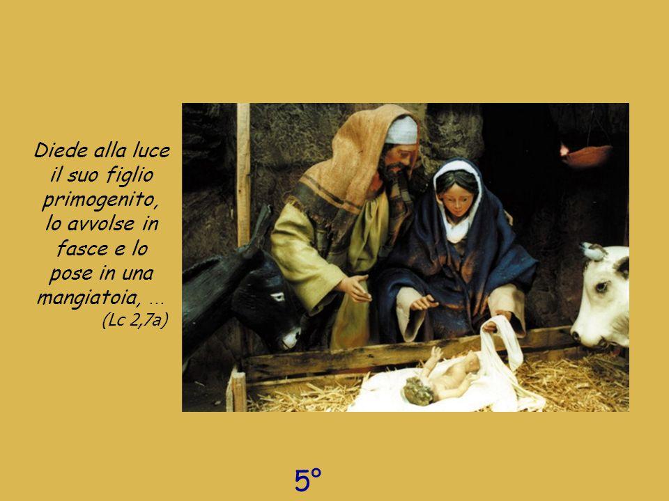 Diede alla luce il suo figlio primogenito, lo avvolse in fasce e lo pose in una mangiatoia, … (Lc 2,7a)