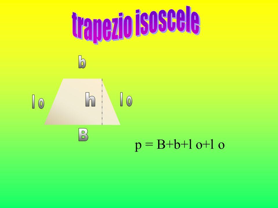 trapezio isoscele b h l o l o B p = B+b+l o+l o