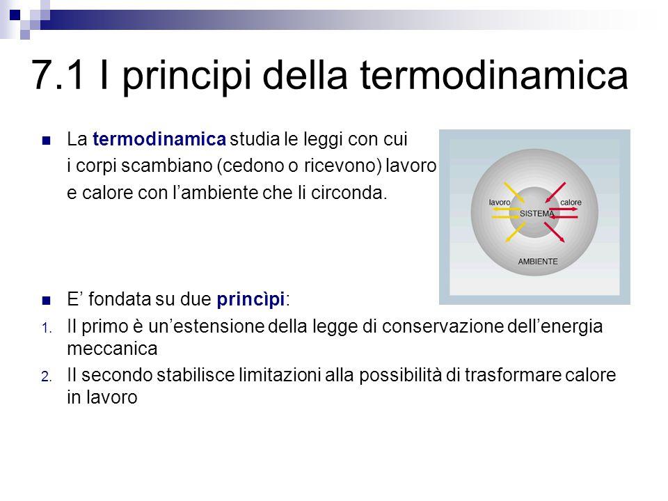7.1 I principi della termodinamica