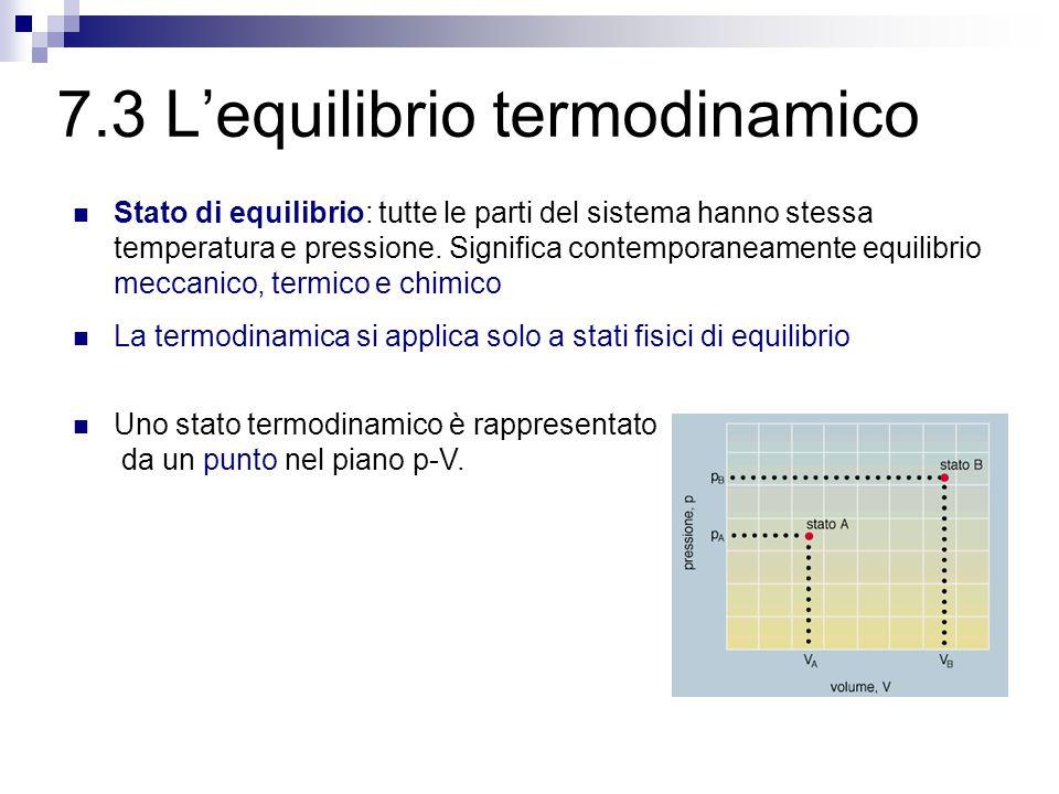 7.3 L'equilibrio termodinamico