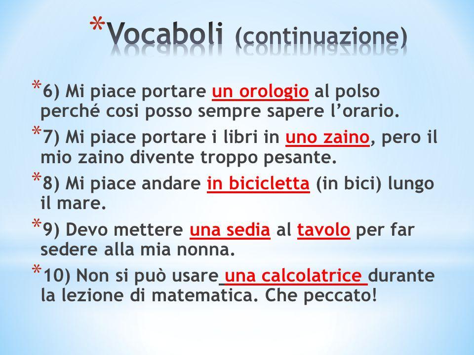 Vocaboli (continuazione)