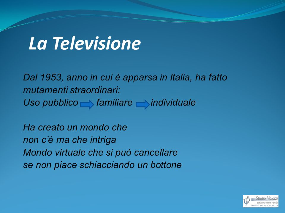 La Televisione Dal 1953, anno in cui è apparsa in Italia, ha fatto