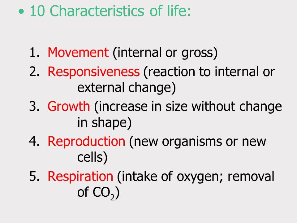 10 Characteristics of life: