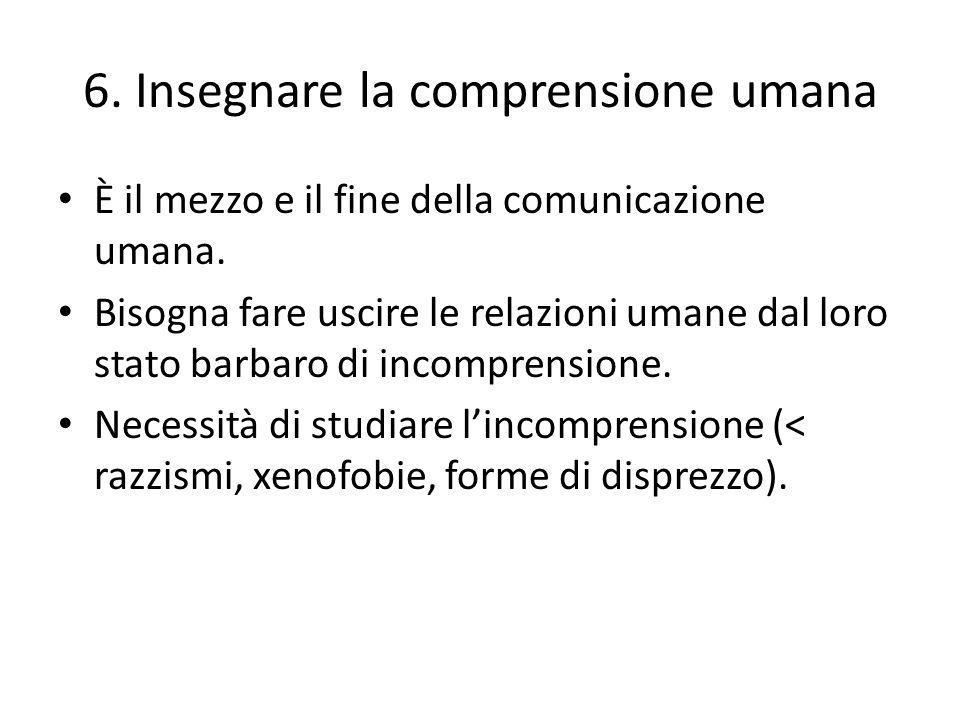 6. Insegnare la comprensione umana