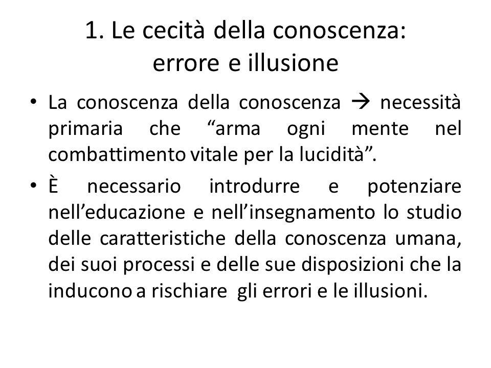 1. Le cecità della conoscenza: errore e illusione