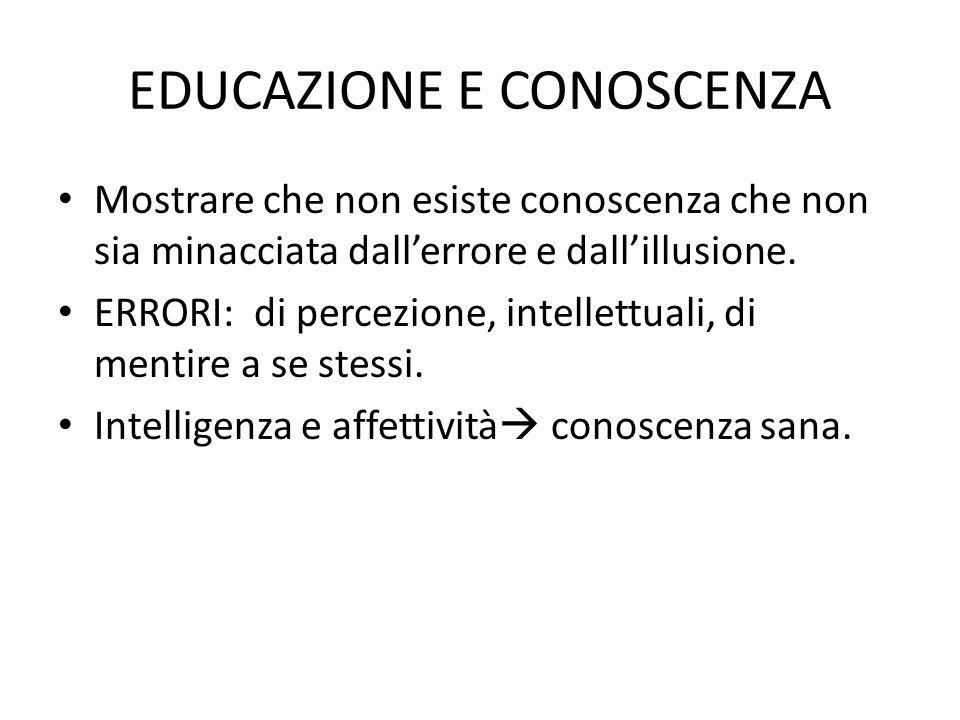 EDUCAZIONE E CONOSCENZA
